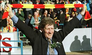 John Lambie celebrates promotion to the SPL last season