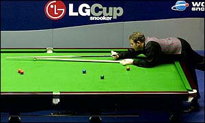 Stephen Lee in action at the LG Cup