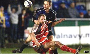 Campbell Feather stops Glasgow's Jon Steel