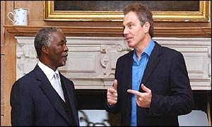 Thabo Mbeki and Tony Blair