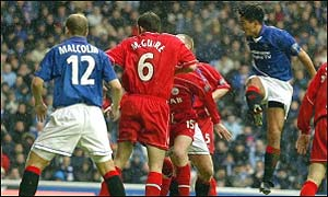 Mols scored for Rangers