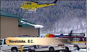 Rescue operation at previous avalanche, 20 Jan, 2003