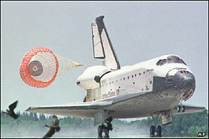 Space shuttle Columbia lands in 1998, AP