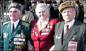 Antonina Vladimirovna and fellow veterans