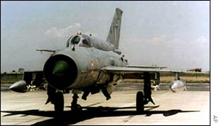 Russian-built MiG-21 fighter used by the Indian air force