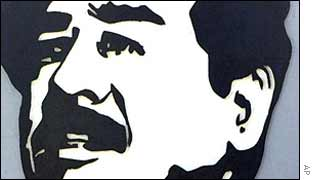 Saddam Hussein poster