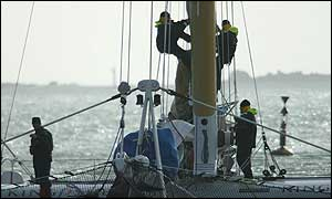 Ellen MacArthur is skipper of a crew of 13 on Kingfisher 2