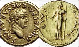 Heads and tails of Roman coin