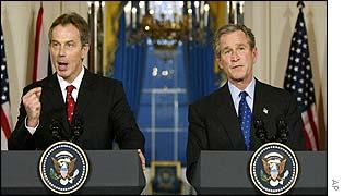 President Bush and Prime Minister Blair
