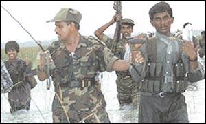 Tamil Tigers on a training exercise