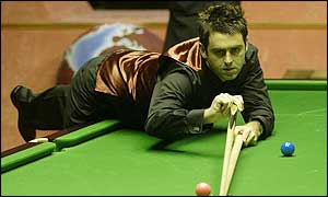 Ronnie O'Sullivan in action at Wembley