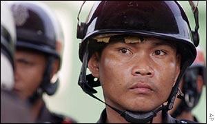 A Thai policeman