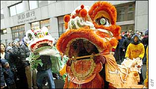 New Year celebrations in New York City's Chinatown