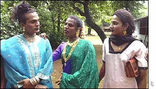 Eunuchs at a convention in Bombay