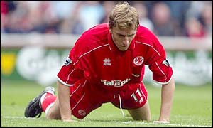 Middlesbrough striker Alen Boksic