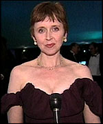 Rosie Millard at the Oscars 2001