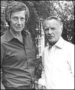 Barry Norman with John Mills in 1980