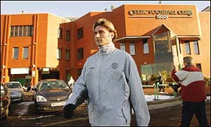 Stanislav Varga outside Celtic Park