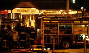 Fire crews at Palace Pier