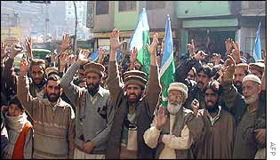 Pakistani Kashmiris chant anti-India slogans in Muzaffarabad