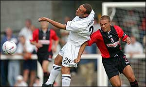 Jamie Wood in action