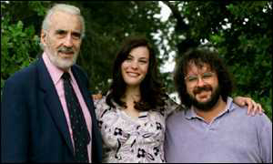 Christopher Lee, Liv Tyler and Peter Jackson