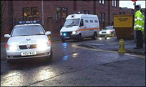 The two Algerians arrive at court