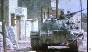 Iraqi tank during the Iran-Iraq war