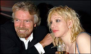 Sir Richard Branson and Courtney Love