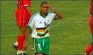 South Africa's top striker Shaun Bartlett