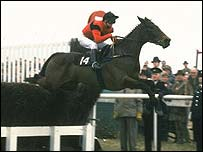 Dawn Run on her way to winning the Cheltenham Gold Cup