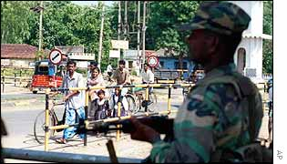 Sri Lankan soldier and civilians