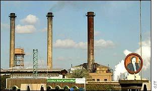 Oil refinery in Baghdad, Iraq