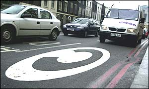 London's congestion charge is introduced on February 17