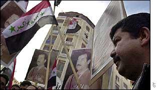Pro-Saddam rally in Ramallah