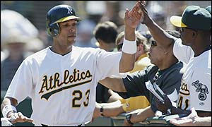 David Justice hit .266 with 11 homers and 49 RBI in 2002