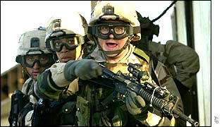 Soldiers in the US army
