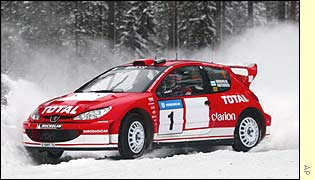 Marcus Gronholm on the Rally of Sweden