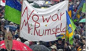 Anti-war march in Munich