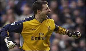 Chelsea goalkeeper Carlo Cudicini