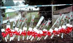 Floral tribute after Dunblane massacre