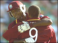 Carl Hooper and Brian Lara