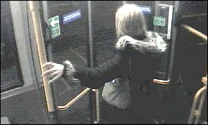 Marsha McDonnell getting off the 111 bus at Hampton at 00:17 on Tuesday 4 February