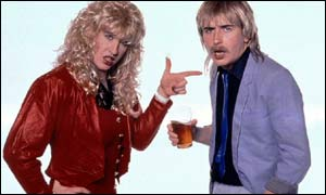 Comedian Steve Coogan as Pauline and Paul Calf. Coogan was promoted in BBC Three's launch campaign