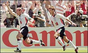 Alan Shearer and Teddy Sheringham