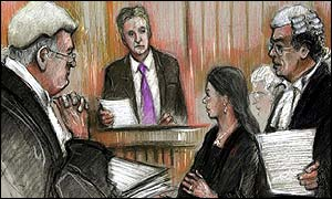 Michael Douglas and Catherine Zeta Jones in court
