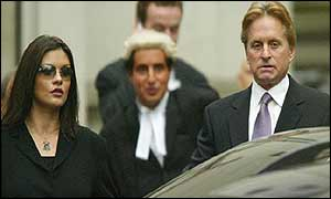 Catherine Zeta Jones and Michael Douglas at the High Court