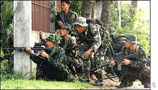 Philippine government troops