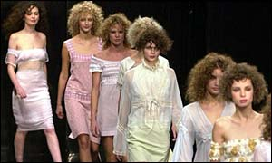 Models on the catwalk, BBC