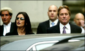 Catherine Zeta Jones and husband Michael Douglas